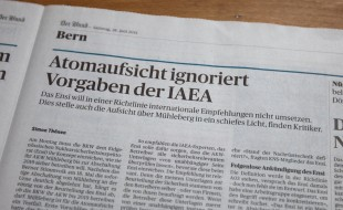 Der Bund: Atomaufsicht ignoriert Vorgaben der IAEA